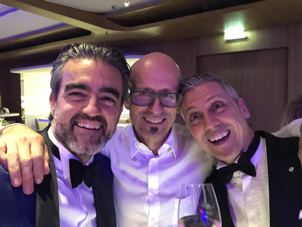 Andrea con Markus Huezeler (Presidente EAED) e Federico Ferraris